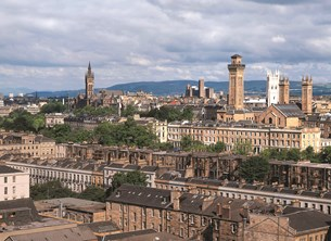 Panoramic view of Glasgow
